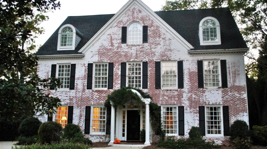 Brick Home Restoration : Whitewashed brick fireplace bricks faux fabulous